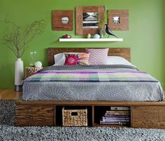 Green Room Wooden DIY Stora 8 DIY Storage Beds to Add Extra Space and Organization to Your Home