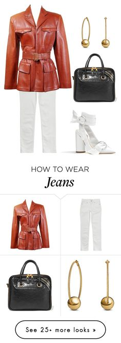 """""""Untitled #1050"""" by lucyshenton on Polyvore featuring Levi's, Jean-Paul Gaultier, Balenciaga and David Yurman"""