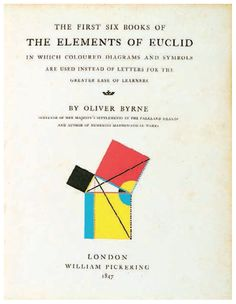 William Pickering, title page from The Elements of Euclid, 1847.