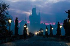 Morning in Prague.