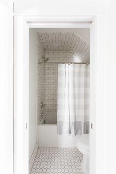 Subway Tile Shower Walls OctagonDot Floor Tile Grey Grout - Octagon bathroom floor tile