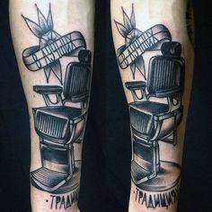 Guys Barber Shop Chair In Black Ink