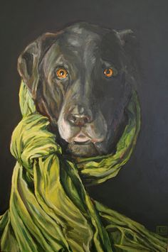 """The Farmhouse Porch: Shop My Paintings """"Old Girl"""" Oil on Canvas, SOLD This is a painting I did of my old girl, Shadow-FP"""