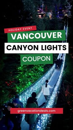 If you'll be in the Vancouver area this holiday season, then you must see the Canyon Lights! It is one of the best holiday light displays in the world. It includes millions of twinkling lights on the famous Capilano Suspension Bridge, the 8 tallest Christmas trees in the world, a breathtakingly beautiful lights walk around Blue Grouse Lake & more. Find out other things to do at this fun experience as well as a great tour that includes transporation! Perfect for your Vancouver travel…