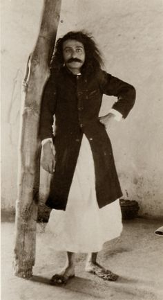 Meher Baba at Meherabad.  1927