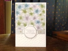 Watercolour Wonder designer paper, Stampin' Up, fringe scissors, Banner dies, Kaseycreations, Floral Framelits