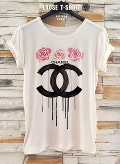 chanel fashion tshirt/white/black tshirt / by ANISHARsport, $18.90