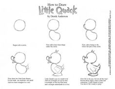 how to draw a duck | Did you know you can draw Little Quack? You can, it's easy!
