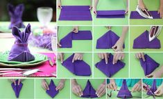 pliage de serviette en papier facile pour Pâques