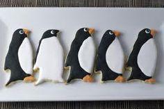 Penguin Party cookies:: black, white, orange