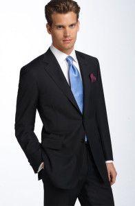 Black Stripe Wool Suit