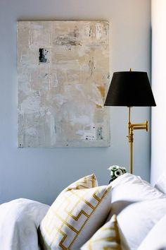 Creams + Blacks + Brass // Caitlin McCarthy's Loft Bedroom