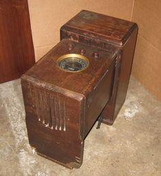 Zenith 5S237 Chairside Radio w/ Lightning Bolt knobs | eBay