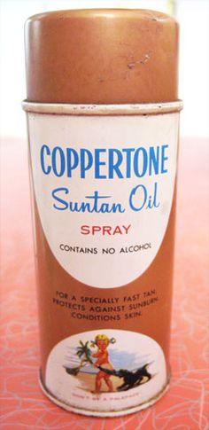 Coppertone Suntan Oil...for that orange glow