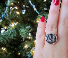 monogram ring!!