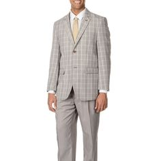 Stacy Adams Men's Turquoise Plaid 3-piece Vested Suit | Overstock™ Shopping - Big Discounts on Suits