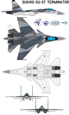 Sukhoi Su-37 Terminator by bagera3005 on DeviantArt