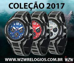 A Coleção 2017 possui diversos modelos de cronógrafos e análogos que se encaixam de acordo com seu estilo. WZW Relógios Sofisticação e estilo para seu dia-a-dia!