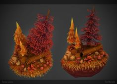ArtStation - Autumn Forest Scene, Tim Moreels: