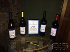Picture of EVCreations Wine Bottle Guest Book Kit from Rachel & Walt's September 2014 wedding!