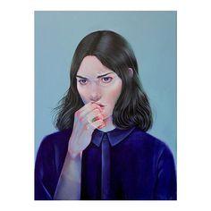 Martine Johanna | #bladebone #bladebone_ || #martinejohanna #dutch #artist #illustration #art #acrylic #painter #blue #amsterdam #vscocam