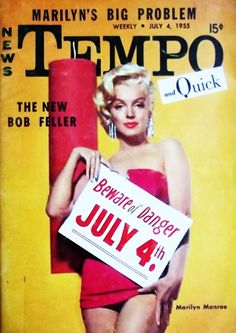 Marilyn Monroe on the cover of Tempo magazine, USA, July 4, 1955.