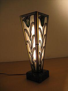 art deco lamp