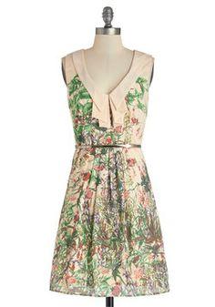 Heard It Through the Drape Vine Dress, #ModCloth