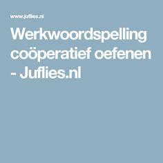 Werkwoordspelling coöperatief oefenen - Juflies.nl Visible Learning, Dutch Language, Kids Class, Cooperative Learning, Teacher Organization, Classroom, Teaching, Tips, Tutorials