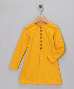 Golden Yellow Organic Tunic - Toddler   Girls Peanuts Girl 4bc917b13334