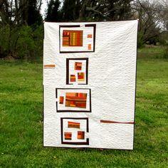 Modern Lap Quilt Quilted Wall Art Southwestern by TwiggyandOpal, $250.00