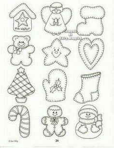 Pattern for Christmas decor