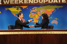 Seth Meyers welcomes Cecily Strong as his new Weekend Update co-anchor during the Saturday Night Live Season 39 premiere.