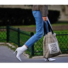 - White boots are a remarkably fresh contrast to denim and plaid. More