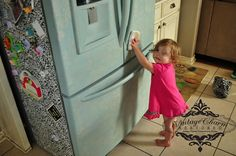 Refrigerator Makeover Using Maison Blanche Chalk Paint