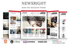 Check out Newsright - Premium HD News Magazine by WPBootstrap on Creative Market