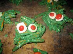 monster pretzels halloween Snacks