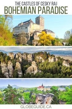There are about a dozen castles scattered throughout Cesky Raj in Czechia, with unique traits like pink facades or being built right into a cliffside.   Cesky Raj Czech Republic | Český Ráj | Czech Republic travel