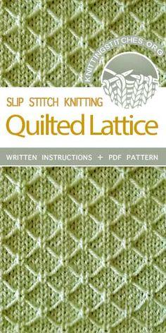 I really liked knitting th… Knitting Stitches — Textured diamond stitch pattern. I really liked knitting this cloth a lot. Slip Stitch Knitting, Lace Knitting Patterns, Knitting Stiches, Knitting Blogs, Knitting Charts, Loom Knitting, Knitting Projects, Crochet Stitches, Stitch Patterns