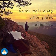 Cares melt away when you're outdoors, camping, RVing, hiking or just chilling outside... Agree?