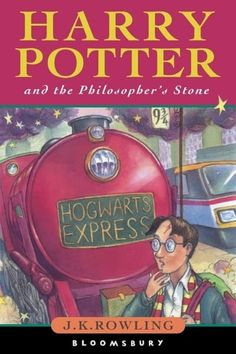 Harry Potter and the Philosopher's Stone by J. Rowling is the first book of the Harry Potter series. Harry Potter's life is miserable. Rowling Harry Potter, Saga Harry Potter, First Harry Potter, James Potter, Harry Potter Book Covers, Images Harry Potter, Comic Sans, Philosophers Stone, The Sorcerer's Stone