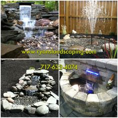 We can design and install any type of water feature to create a tranquil environment for relaxation...