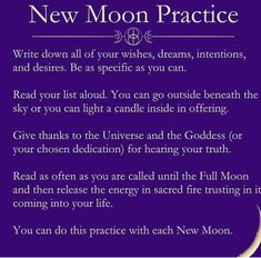 The new moon just passed a few days ago. What ritual did you perform? New Moon Rituals, Full Moon Ritual, Moon Spells, Wiccan Spells, Magic Spells, Wiccan Witch, New Moon Dates, New Moon Meaning, Next New Moon