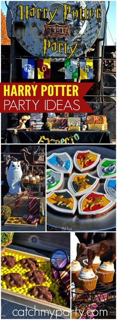 You have to see this incredible Harry Potter's Hogwart's Express party! See more party ideas at CatchMyParty.com!