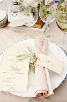 napkin, menu