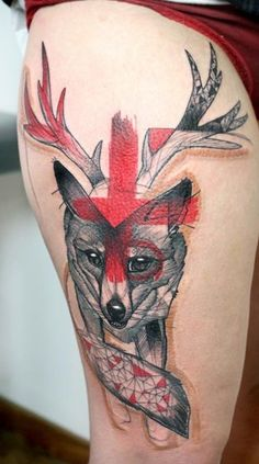 colorful geometric tattoos - Google Search