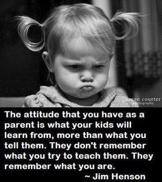 This is so true! Many people can learn from this. Want your kids to be respectful? Treat them with respect, but more importantly, as parents, treat EACH OTHER and others with respect. Demanding parents produce demanding kids. Dramatic parents product dramatic kids. Want your kids to be different and maybe have a better life than yours? Then break the cycle. It starts with the parents.