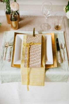 REVEL: Gold Placesetting