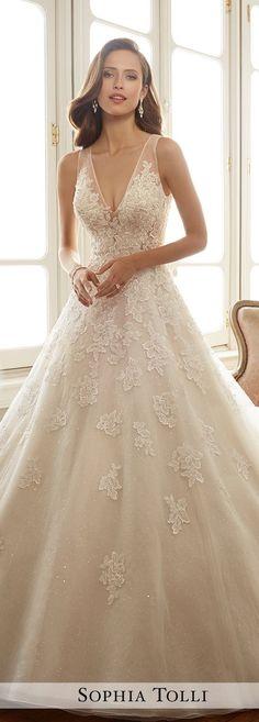 Wedding Dress by Sophia Tolli Spring 2017 Bridal Collection | Style No. » Y11701 Ciel