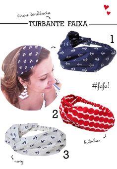 turbante para o cabelo - moda e tendências  http://viroutendencia.com/2014/02/08/dicas-de-lencos-e-turbantes-para-comprar-online/